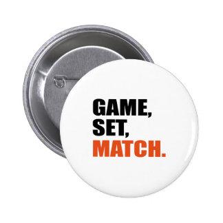 Juego set match pin