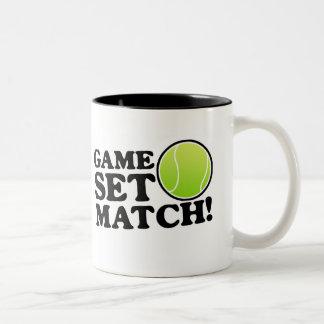 Juego, sistema, partido tazas de café