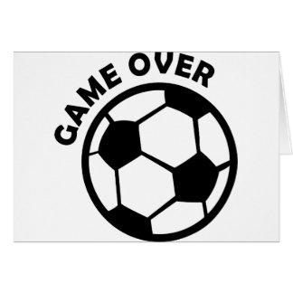 juego sobre balón de fútbol felicitaciones