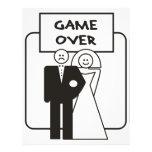 Juego sobre boda membretes personalizados