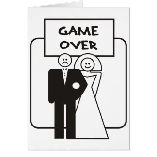 Juego sobre boda tarjeta de felicitación