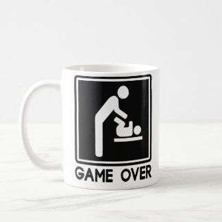 Juego sobre el nuevo bebé para el papá del padre taza básica blanca