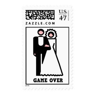 Juego sobre franqueo de la despedida de soltero timbres postales