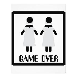 juego sobre icono lesbiano de los pares tarjeta publicitaria