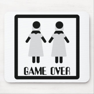 juego sobre icono lesbiano de los pares alfombrillas de ratón