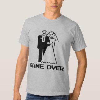 Juego sobre juego de la boda sobre la camiseta playeras