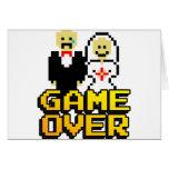 Juego sobre la boda (de 8 bits) tarjetas