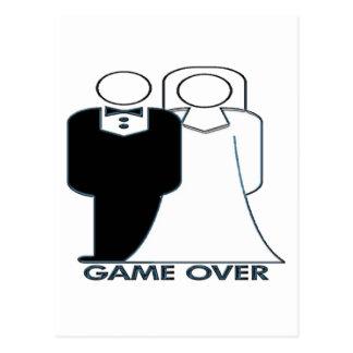 Juego sobre pares de la boda del boda postales