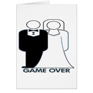 Juego sobre pares de la boda del boda tarjeta de felicitación