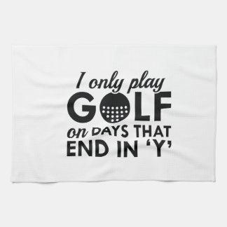 Juego solamente a golf toalla de cocina