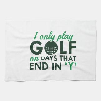 Juego solamente a golf toallas