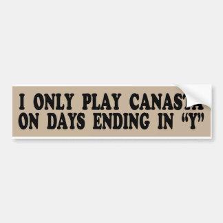 Juego solamente la canasta el los días que termina pegatina de parachoque