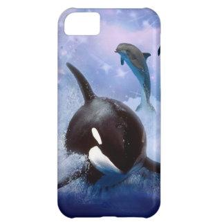 Juego soñador de la ballena y de los delfínes funda para iPhone 5C