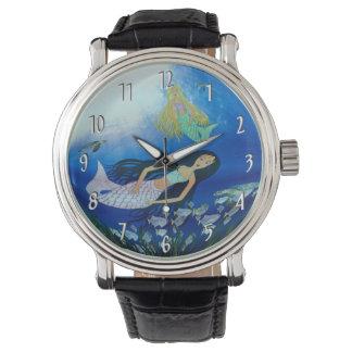 Juego subacuático (sirena) reloj