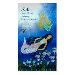 Juego subacuático (sirena) tarjetas de negocios