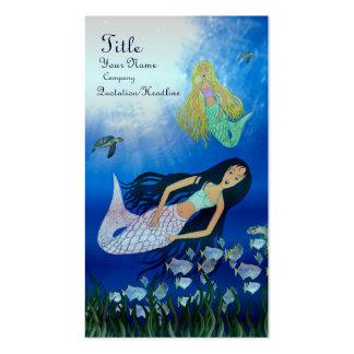 Juego subacuático (sirena) tarjetas de visita