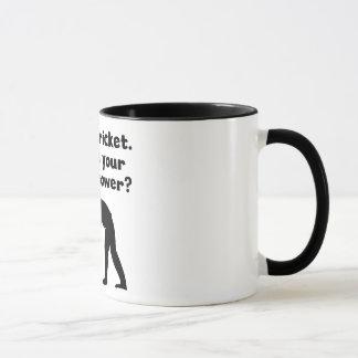 Juego superpoder del grillo taza