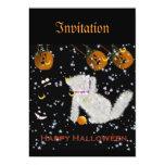 """""""Juego"""" tarjeta de la calabaza del gatito de la Invitación 12,7 X 17,8 Cm"""