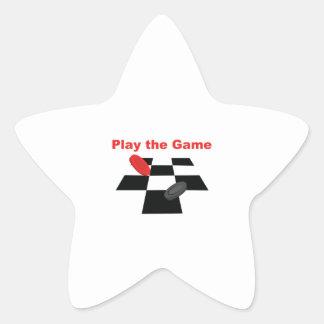 Juego The Game Pegatina En Forma De Estrella