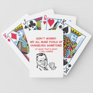 juego y chiste de los deportes baraja de cartas