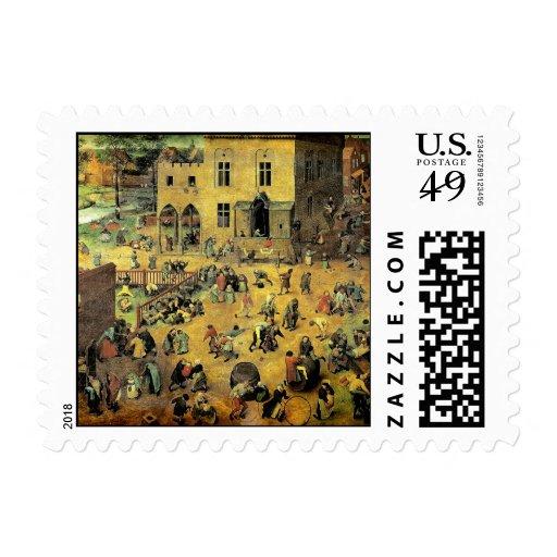"""Juegos"""" - 1560 de los niños de Pieter Bruegel los  Franqueo"""