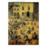 """Juegos"""" - 1560 de los niños de Pieter Bruegel los Tarjeta De Felicitación"""
