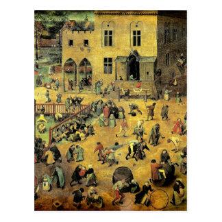 """Juegos"""" - 1560 de los niños de Pieter Bruegel los Postal"""