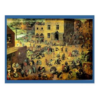 Juegos - 1560 de los niños de Pieter Bruegel los Postales