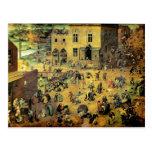 """Juegos"""" - 1560 de los niños de Pieter Bruegel los Tarjetas Postales"""