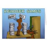 juegos 3 del reno tarjeta de felicitación