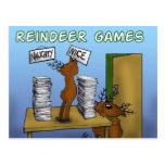 juegos 3 del reno tarjeta postal