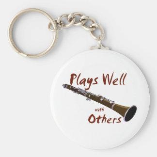 Juegos bien con otros Clarinet Llavero Redondo Tipo Pin