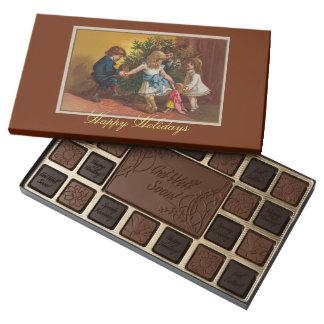 Juegos coloridos allsorts del navidad del vintage caja de bombones variados con 45 piezas