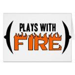 Juegos con el fuego tarjeta