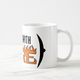 Juegos con el fuego tazas de café