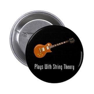 Juegos con teoría de la secuencia - guitarra pin redondo de 2 pulgadas
