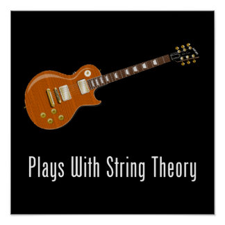 Juegos con teoría de la secuencia - guitarra póster