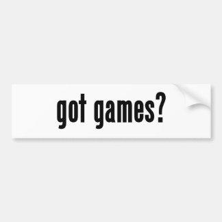 ¿juegos conseguidos? pegatina para auto