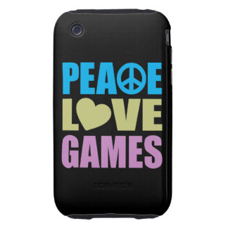 Juegos de amor de la paz carcasa though para iPhone 3