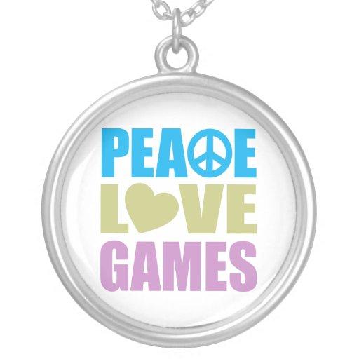 Juegos de amor de la paz colgantes