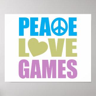 Juegos de amor de la paz póster