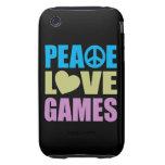Juegos de amor de la paz tough iPhone 3 coberturas
