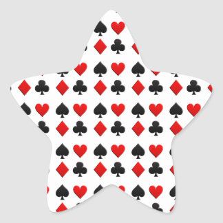 Juegos de juego de las tarjetas pegatina en forma de estrella