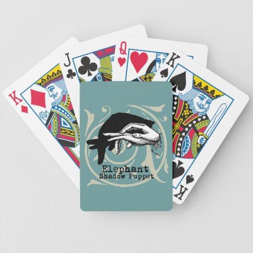 Juegos de la sombra de la marioneta de mano del el barajas de cartas