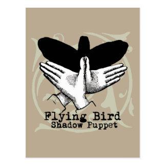 Juegos de la sombra de la marioneta de mano del postal