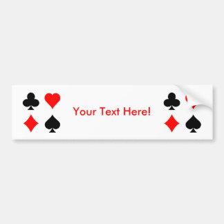 Juegos de la tarjeta de la veintiuna/del póker: Ar Pegatina Para Auto
