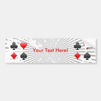 Juegos de la tarjeta de la veintiuna/del póker: Pe Pegatina De Parachoque