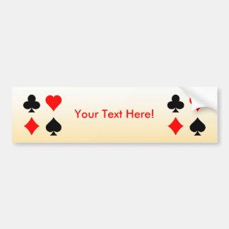 Juegos de la tarjeta de la veintiuna/del póker: Pe Pegatina Para Auto