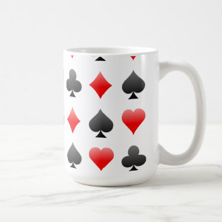 Juegos de la tarjeta de la veintiuna/del póker: taza básica blanca