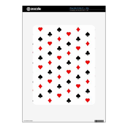 Juegos de la tarjeta del póker: calcomanías para iPad